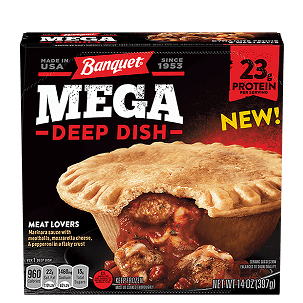 Banquet Mega Deep Dish Meat Lovers Pizza