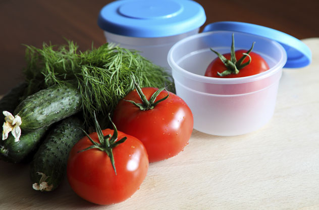 Storing Tomatoes and Cucumbers