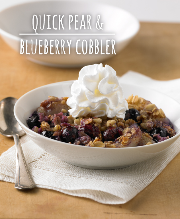 Quick Pear and Blueberry Cobbler Dessert