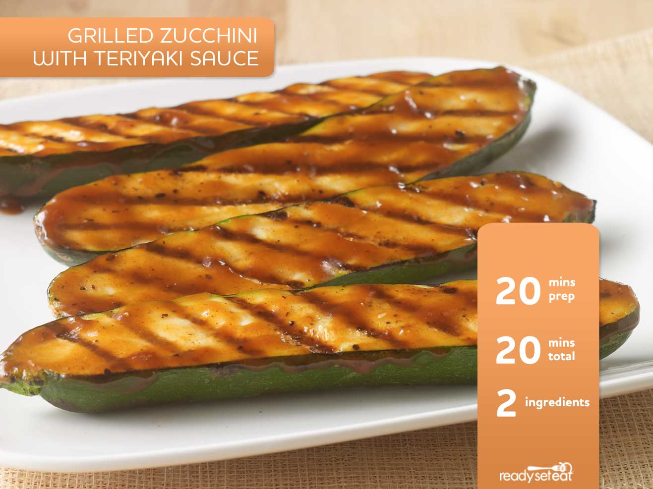 Grilled Zucchini with Teriyaki Sauce