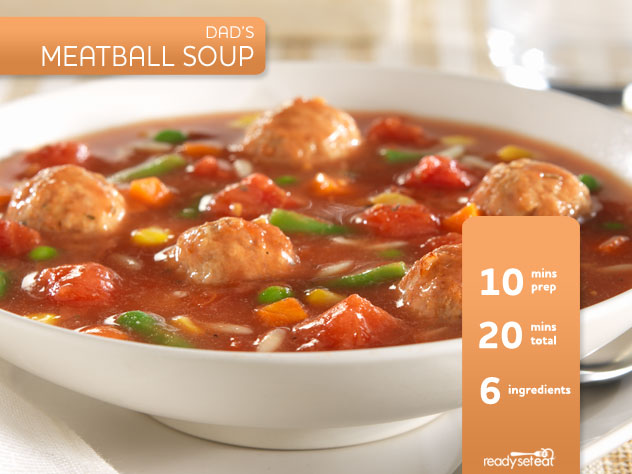 Dad's Meatball Soup Recipe for Fall