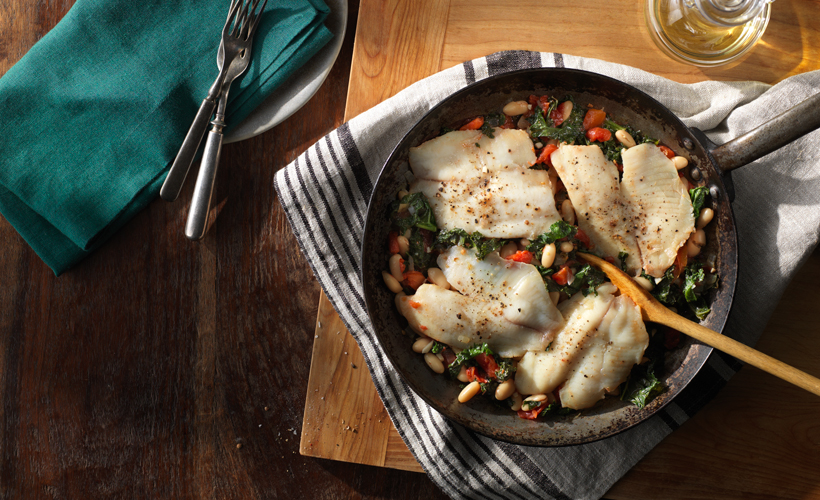 FY17 ReadySetEat Tilapia White Bean and Kale Skillet 820x500.jpg