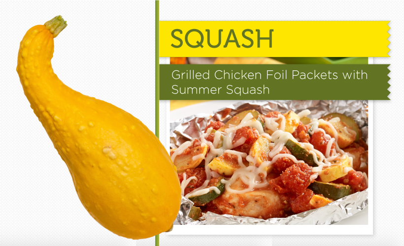 Grilled Chicken Foil Packets with Summer Squash
