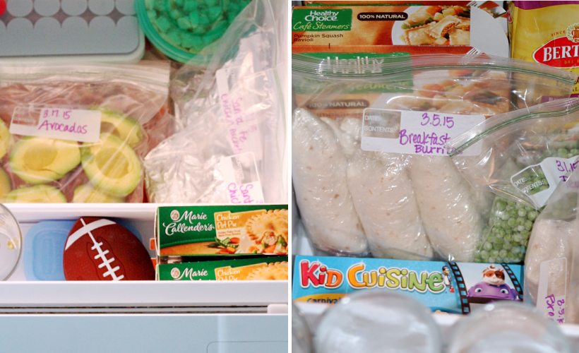 Organized Freezer with Make-Ahead Meals