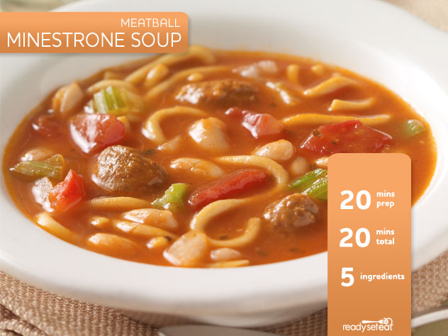 Meatball Minestrone Soup Recipe for Fall