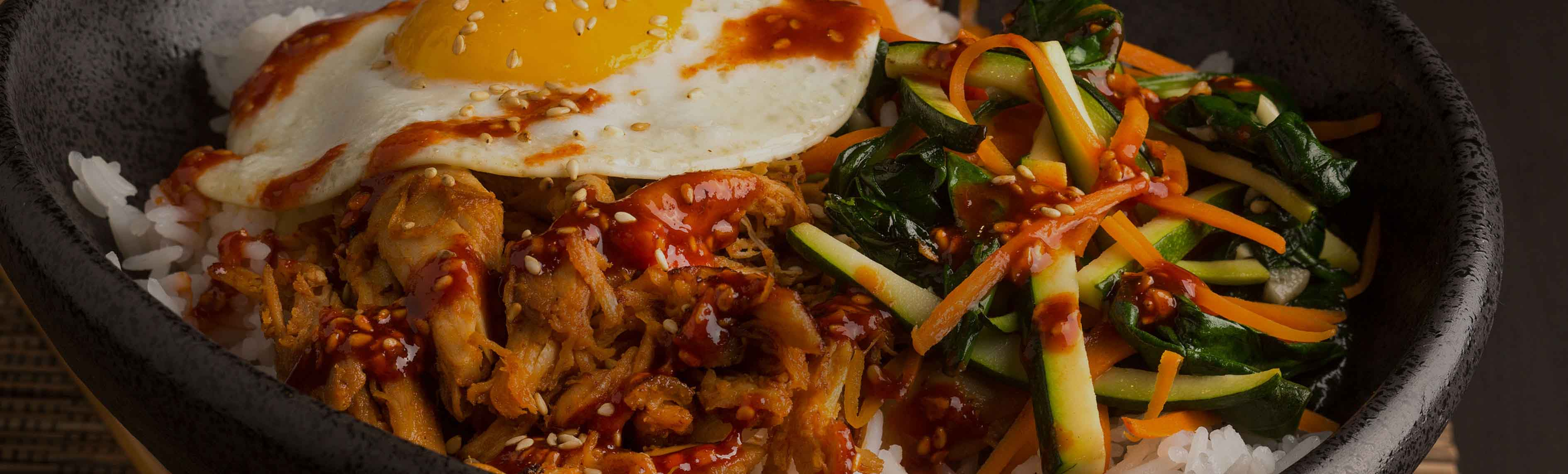 Korean Turkey Bibimbap Bowl