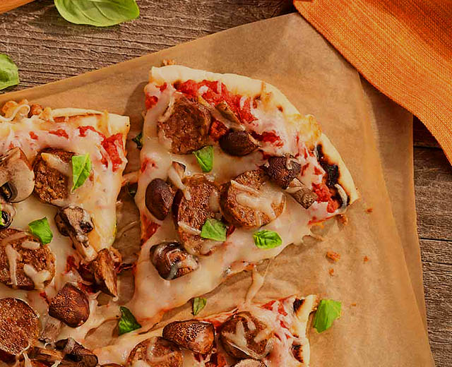 Italian Sausage and Mushroom Grilled Pizza