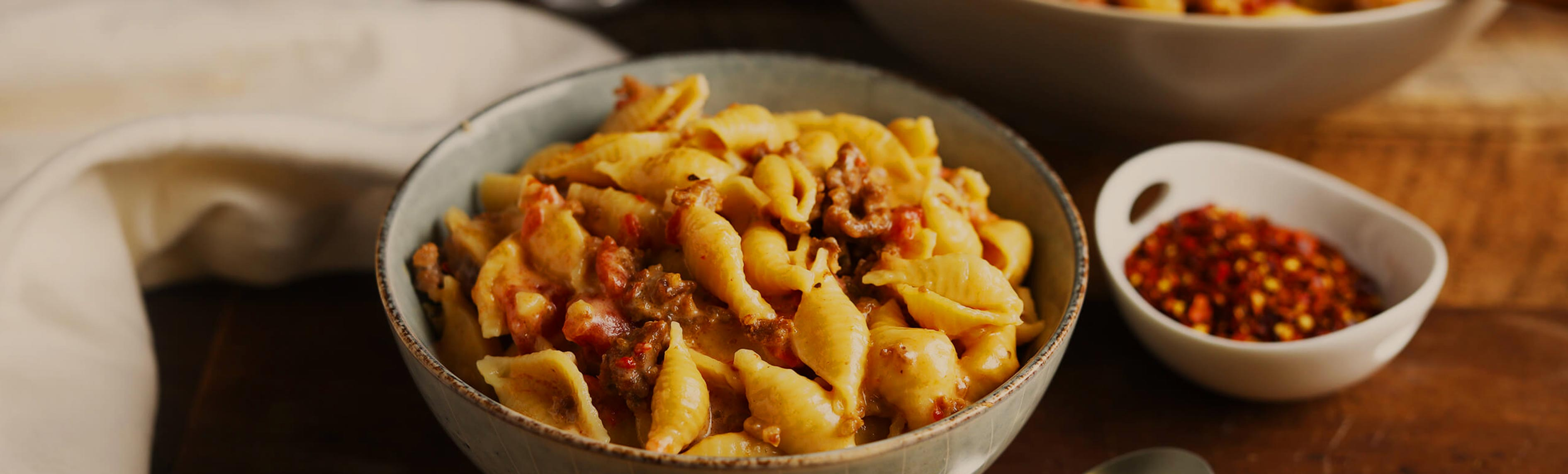 Spicy Italian Sausage Mac and Cheese