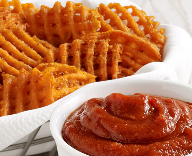 Curry Ketchup with Baked Sweet Potato Fries
