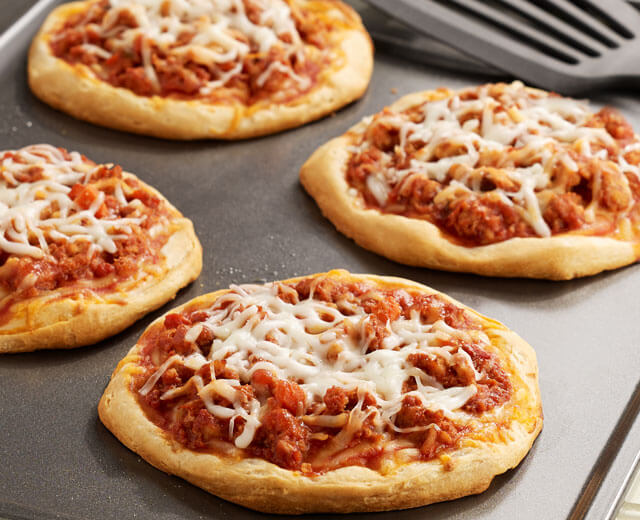 Sloppy Joe Mini Pizzas