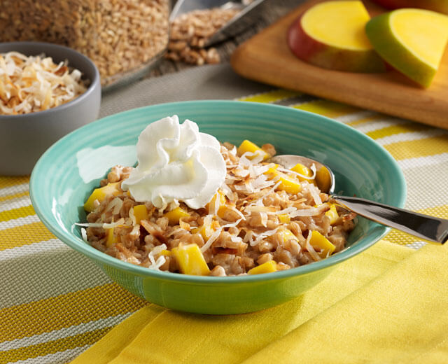 Coconut and Mango Farro Porridge