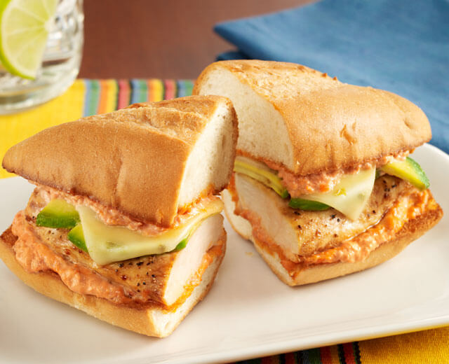 Chicken Sandwiches with Avocado and Spicy Mayo