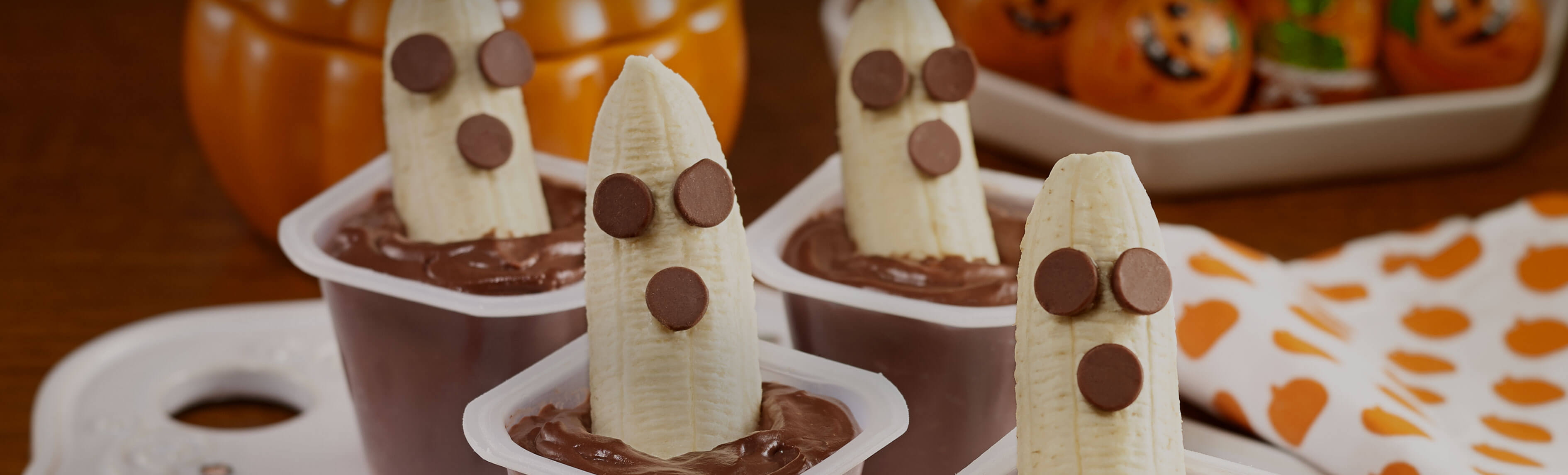 Boo-nana Chocolate Pudding Cups