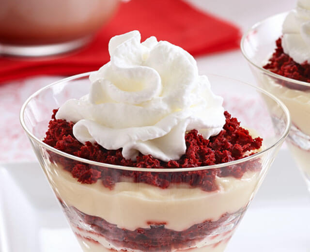 Red Velvet Pudding Cups
