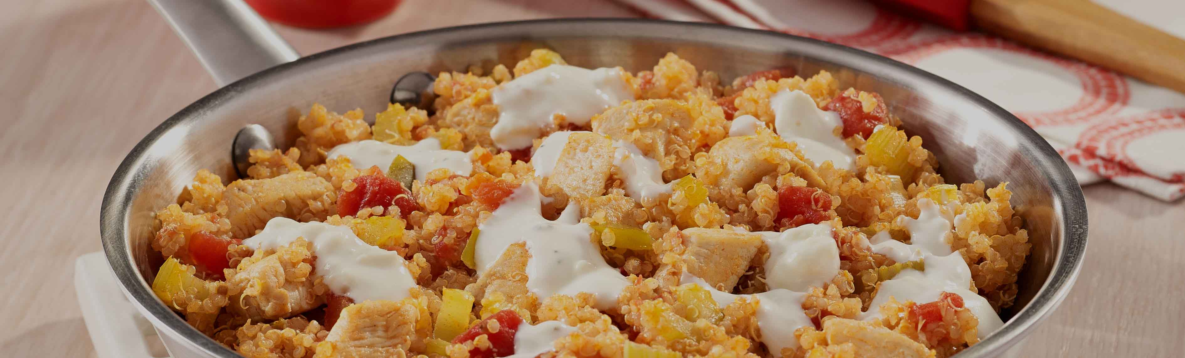 Buffalo Chicken Quinoa Skillet