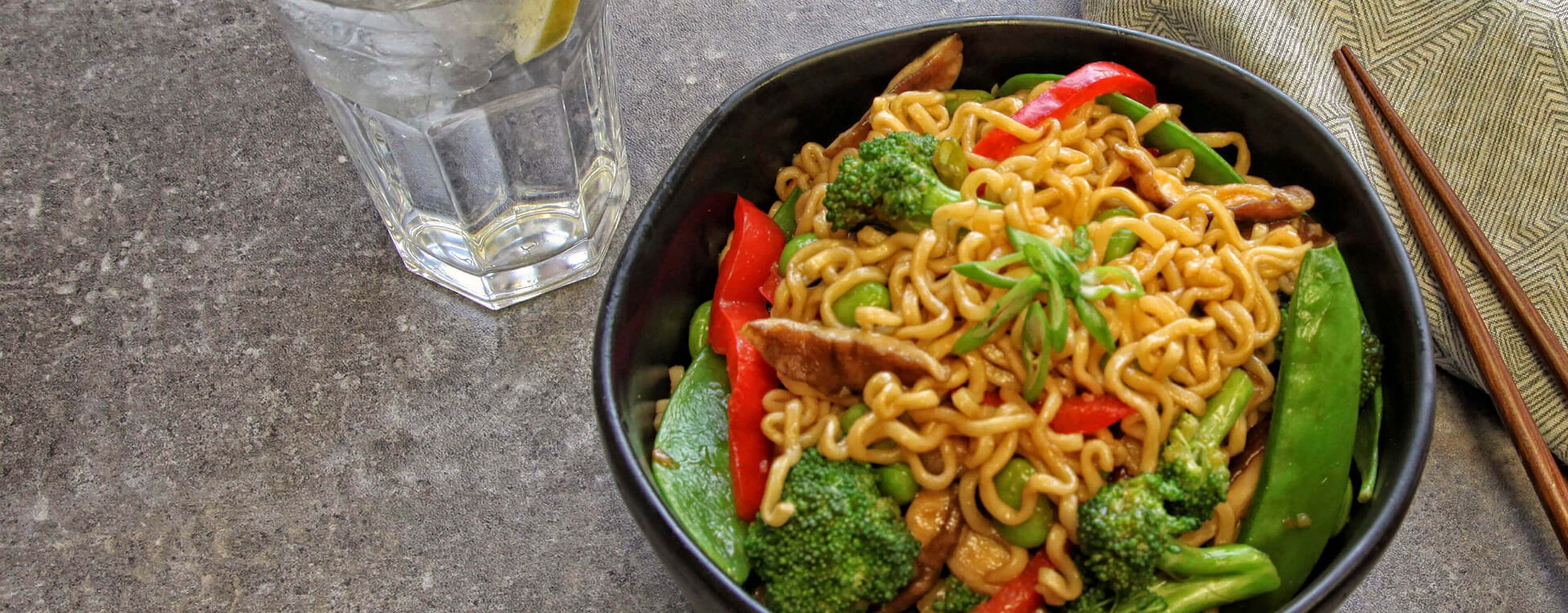 Teriyaki Vegetable Noodle Bowl