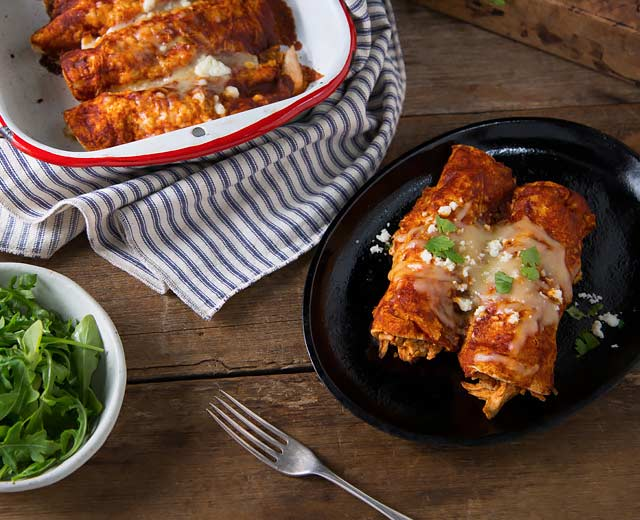 Chicken and Red Chile Enchiladas