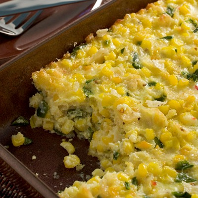 Poblano Chile and Two Corn Pudding