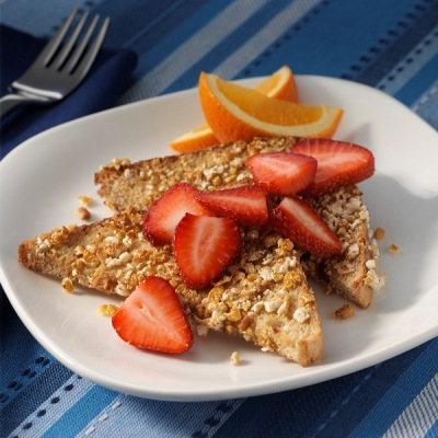 Caramelized French Toast with Fresh Strawberries