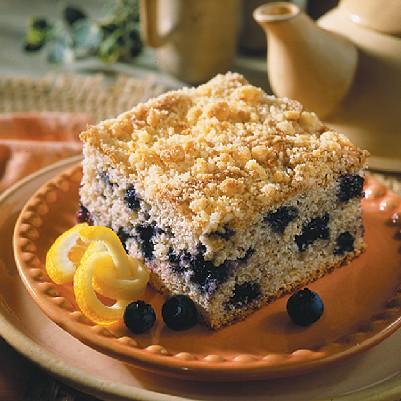 Reduced Sugar Lemon Coffee Cake