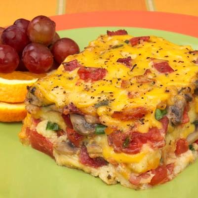 bacon tomato and cheese strata - Cheese Egg Strata