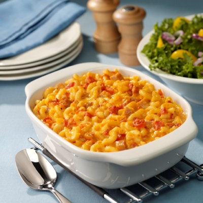 Creamy Mac 'n Cheese with Ham and Tomatoes