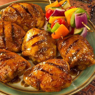 Barbecued Chicken Thighs