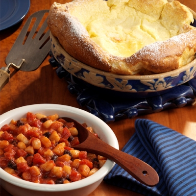 Sweet Tomato Dutch Baby Pancake