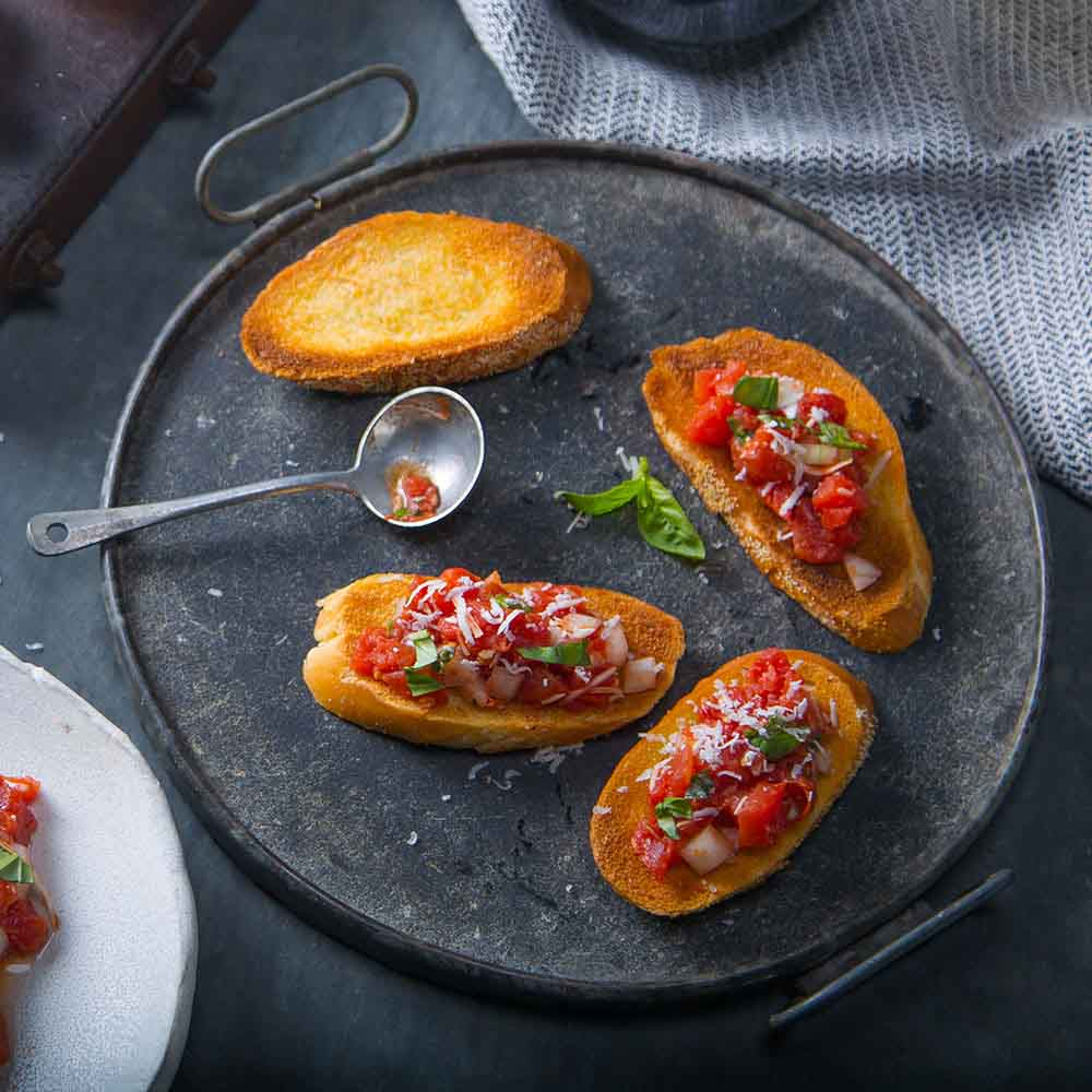 Tomato Cheese Bruschetta Ready Set Eat