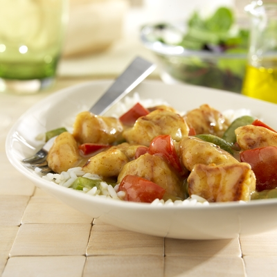 Chicken and Peppers with Lemony Mustard Sauce