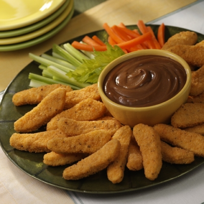 Creamy Peanut Butter Dip and Chicken Tenders