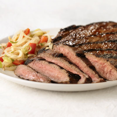 Grilled Steak and Asian Bean Sprout Salsa