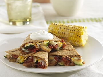 Grilled Vegetable Quesadillas