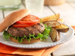 All-American Burger with Potato Wedges
