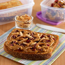 Peanut Butter 'Cranwich' with Almonds