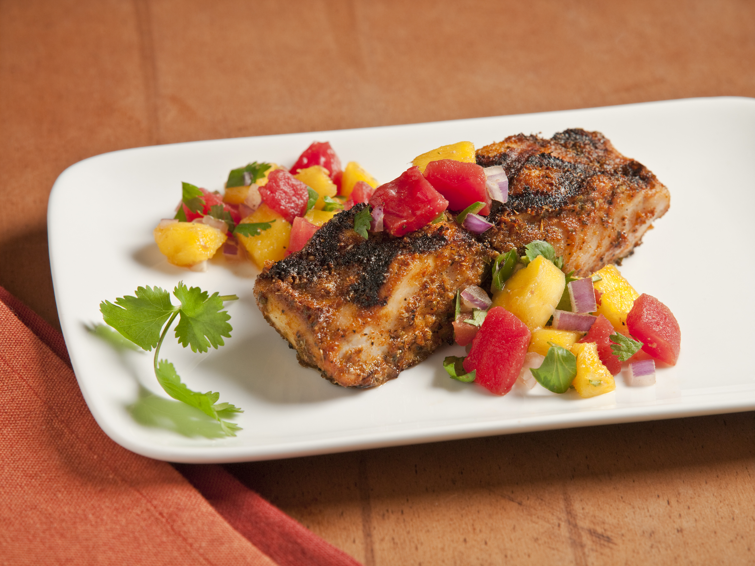 Blackened Mahi Mahi with Mango Salsa