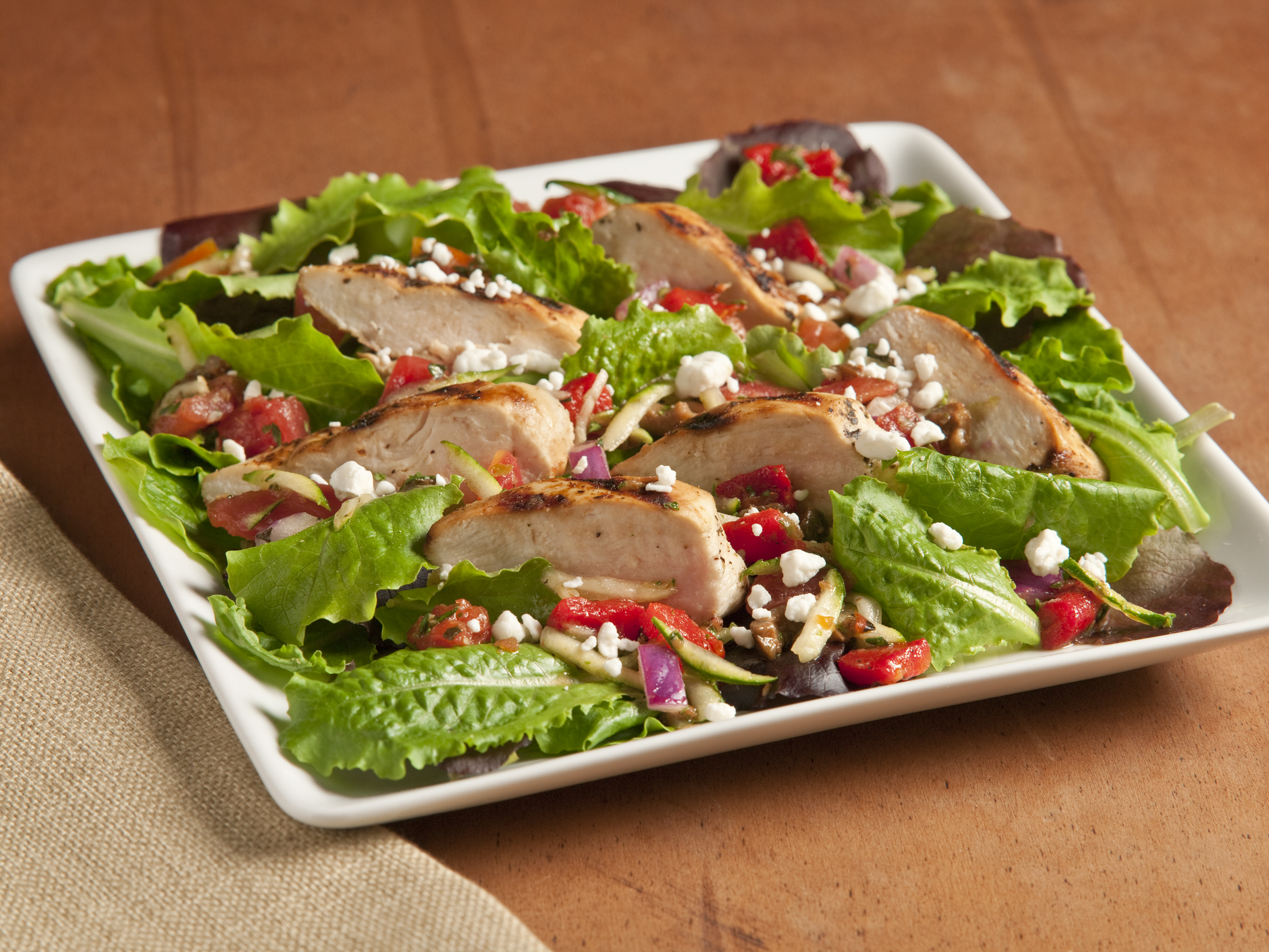 Grilled Chicken Provencal Salad