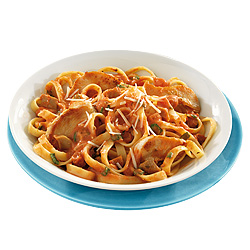 Fettuccine with Chicken and Creamy Mushroom Tomato Sauce