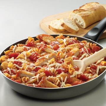 Skillet Chicken Parmesan and Pasta