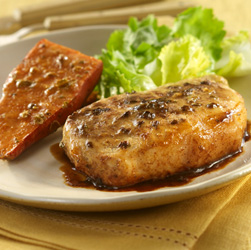 Maple-Mustard Pork with Sweet Potatoes