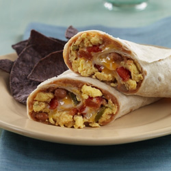 Southwestern Egg and Bean Wraps