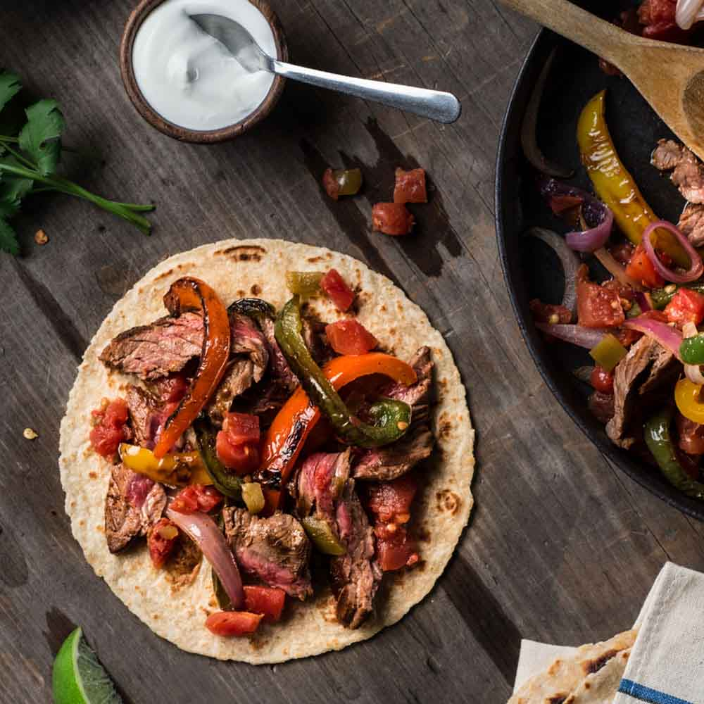 Easy way to make beef fajitas at homemade