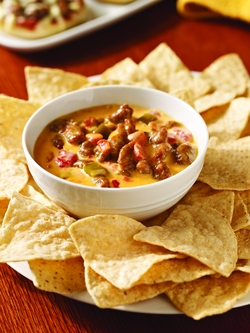 Hot Sausage Queso Dip