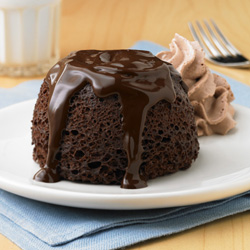 Chocolate Lava Cake Made With Brownie Mix
