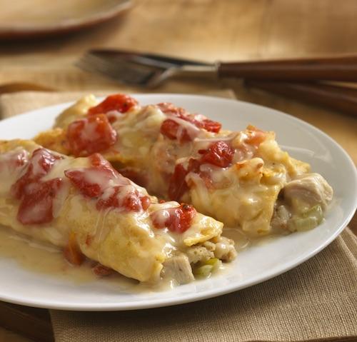 Leftover Turkey And Stuffing 'Enchiladas'