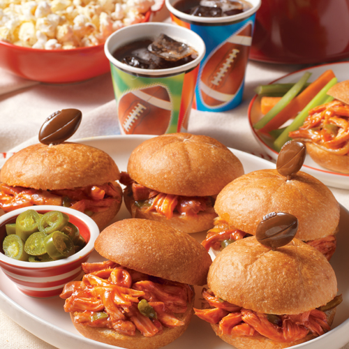 Manwich® Slow Cooker Pulled Chicken Sandwiches