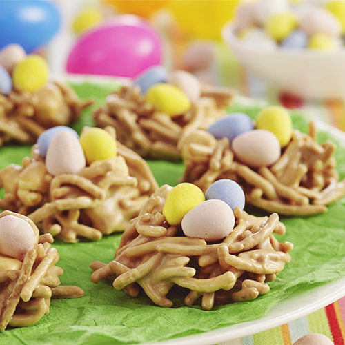 Peanut Butter Bird's Nests