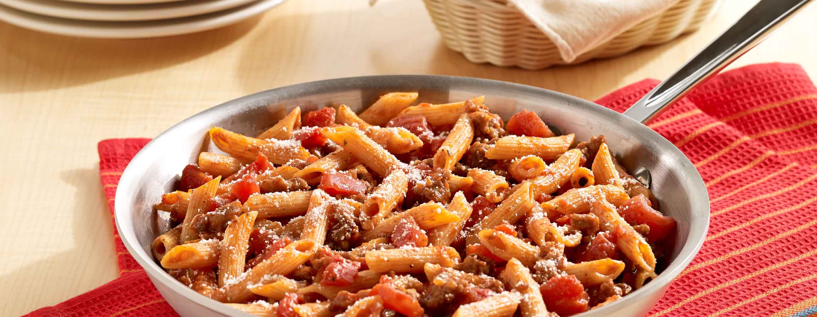 One skillet italian sausage pasta ready set eat for Italian meals