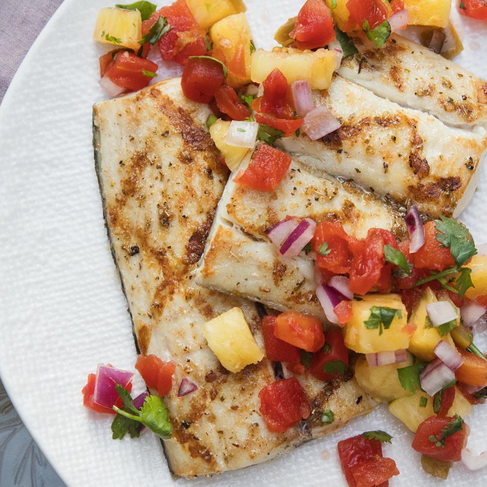 Grilled mahi mahi fillets with pineapple salsa ready set eat for Mahi mahi fish recipe