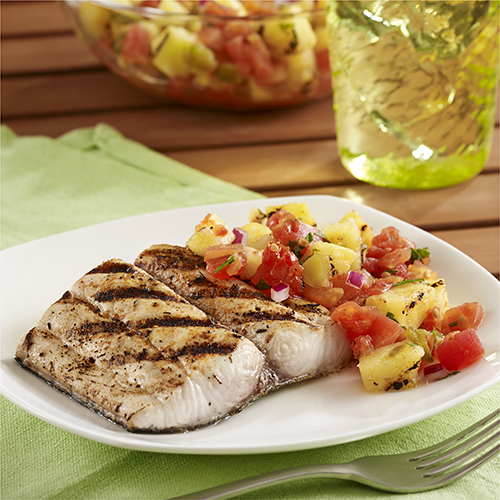 National Seafood Month, Food, Seafood, Food Porn Friday, GRILLED MAHI MAHI FILLETS WITH PINEAPPLE SALSA